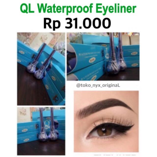 Eyeliner QL / Waterproof Eye Liner Kuas QL Premium ber-BPOM | Shopee Indonesia
