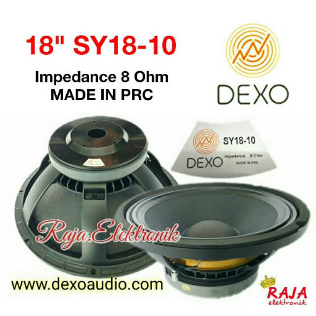 """Speaker DEXO 18"""" in SY18-10 Dexo SY-18 Speker 18in dexo SY 18 Speaker"""