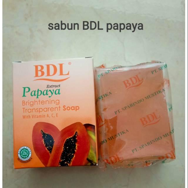 Brightening Transparan Soap Pepaya Bdl Sabun Pepaya Bdl Shopee Indonesia