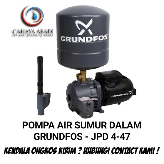 Pompa Air Jet Pump Grundfos Jpd 4 47 Pt V Jpd4 250 Watt Pompa Air Sumur Dalam Shopee Indonesia