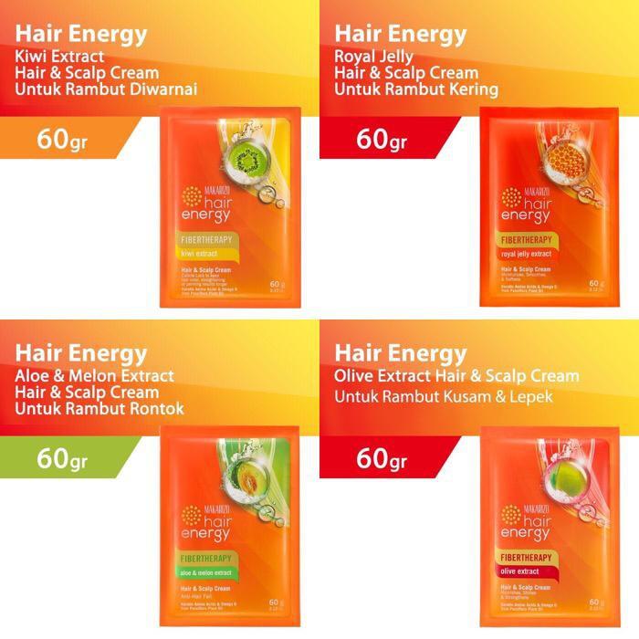 Makarizo Hair Energy Fibertherapy Hair Scalp Creambath 60gr Pelembut Rambut Penghalus Rambut Shopee Indonesia