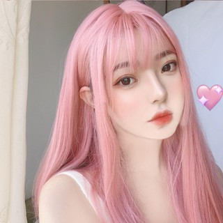 Cosplay Wig Perempuan Rambut Lurus Panjang Lolita Rambut Panjang Cahaya Merah Muda Rambut Lurus Panjang Adik Wig thumbnail