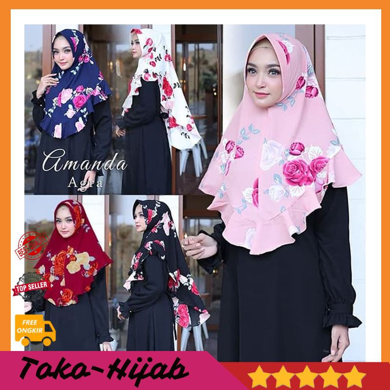 Khimar Motif Khimar Syari Khimar Murah Khimar Jumbo Hijab Jilbab Pashmina Kerudung Bergo A184 Shopee Indonesia