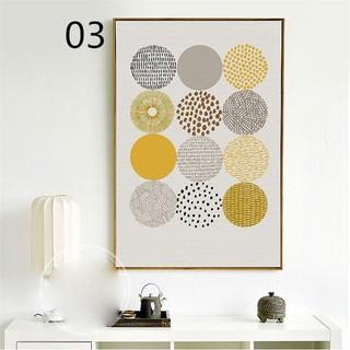 Lukisan Dinding Desain Nordic Abstrak Geometri, Tanpa ...