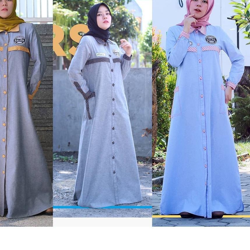 【 Shophe Oktober 】 Zalifalovers Dress by Zalifa Exclusive Collection - Baju Muslim Wanita - Gamis  :