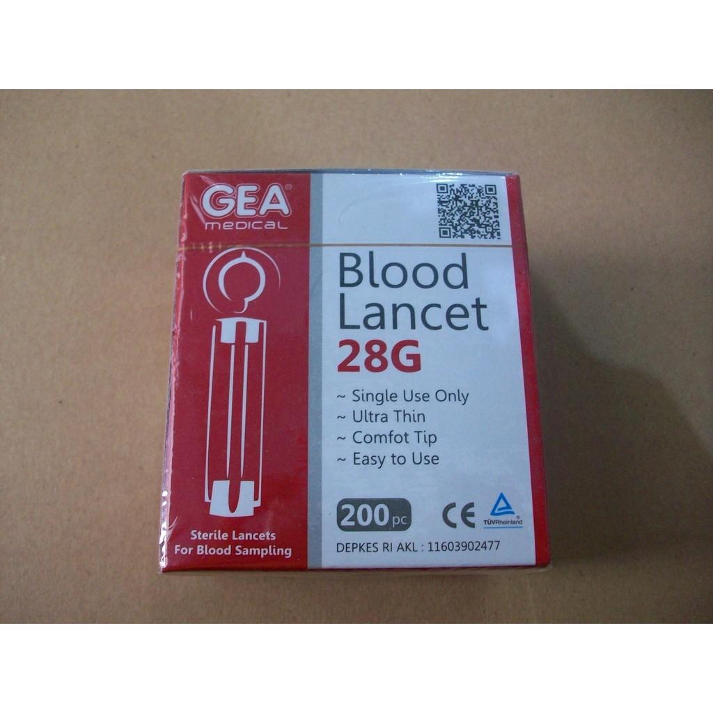 Alat Pengukur Gula Darah Isi 50 Jarum Lancets Strip Shopee Lancet Atau Renoma Indonesia