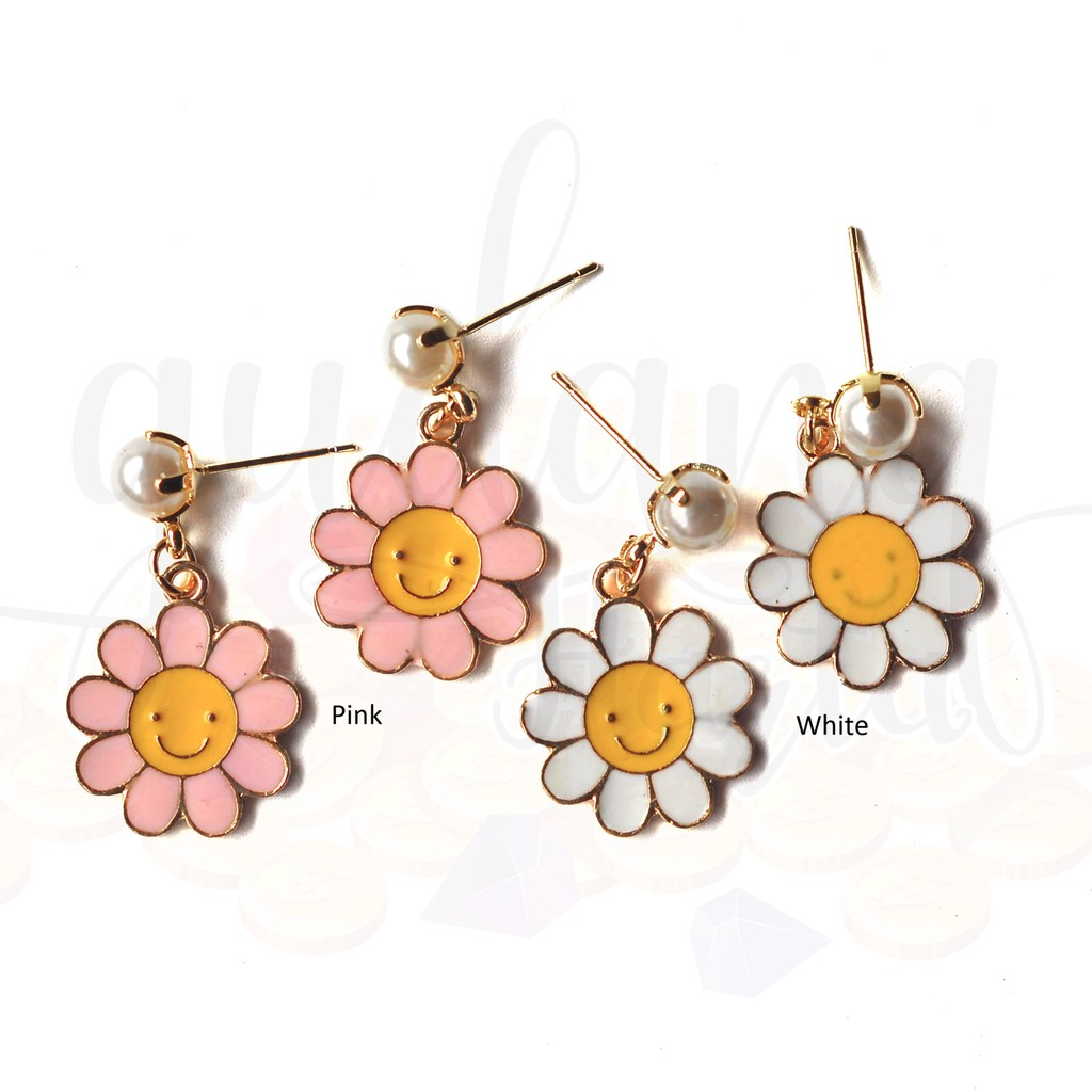 LRC Anting Wanita Sweet Silver Color Diamond&rose Flower Decorated Simple Design Alloy Stud Earring. Source