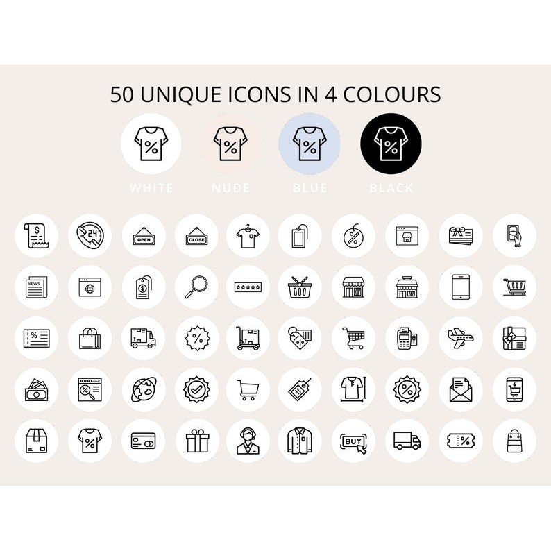 200 Full Pack Instagram Highlight Icons 200 Online Shop Story Highlight White Black Blue Nude Shopee Indonesia