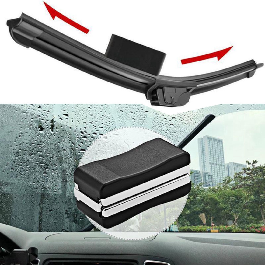 "2in1 Universal 18"" U-type Soft Frameless Bracketless Rubber Car Windshield Wiper Blade | Shopee Indonesia"