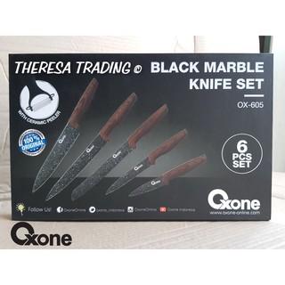 PISAU SET OXONE BLACK MARBLE COATING KNIFE 605 6 PCS ...