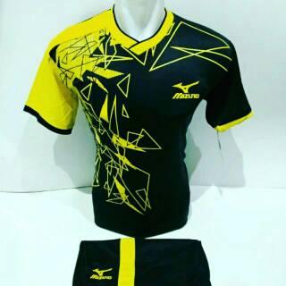 Flash Sale [ Mz 13 ] Baju Jersey Olahraga Kaos Sepak Bola Setelan Futsal / Volly / Volley / Badminton Mizuno shock price - only Rp44.350