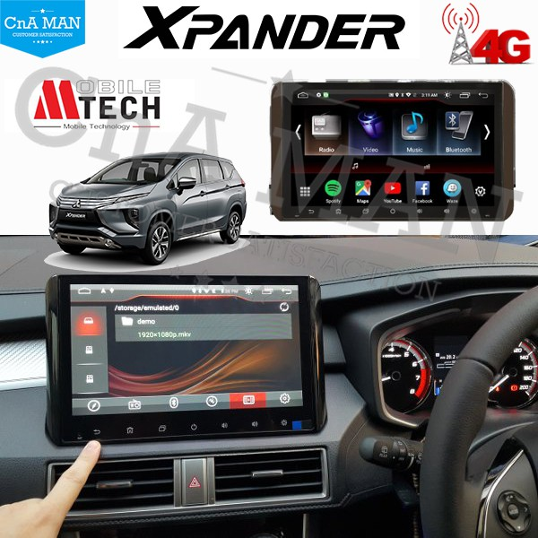 MTECH Android Double Din Head Unit Mitsubishi Xpander 10 inch