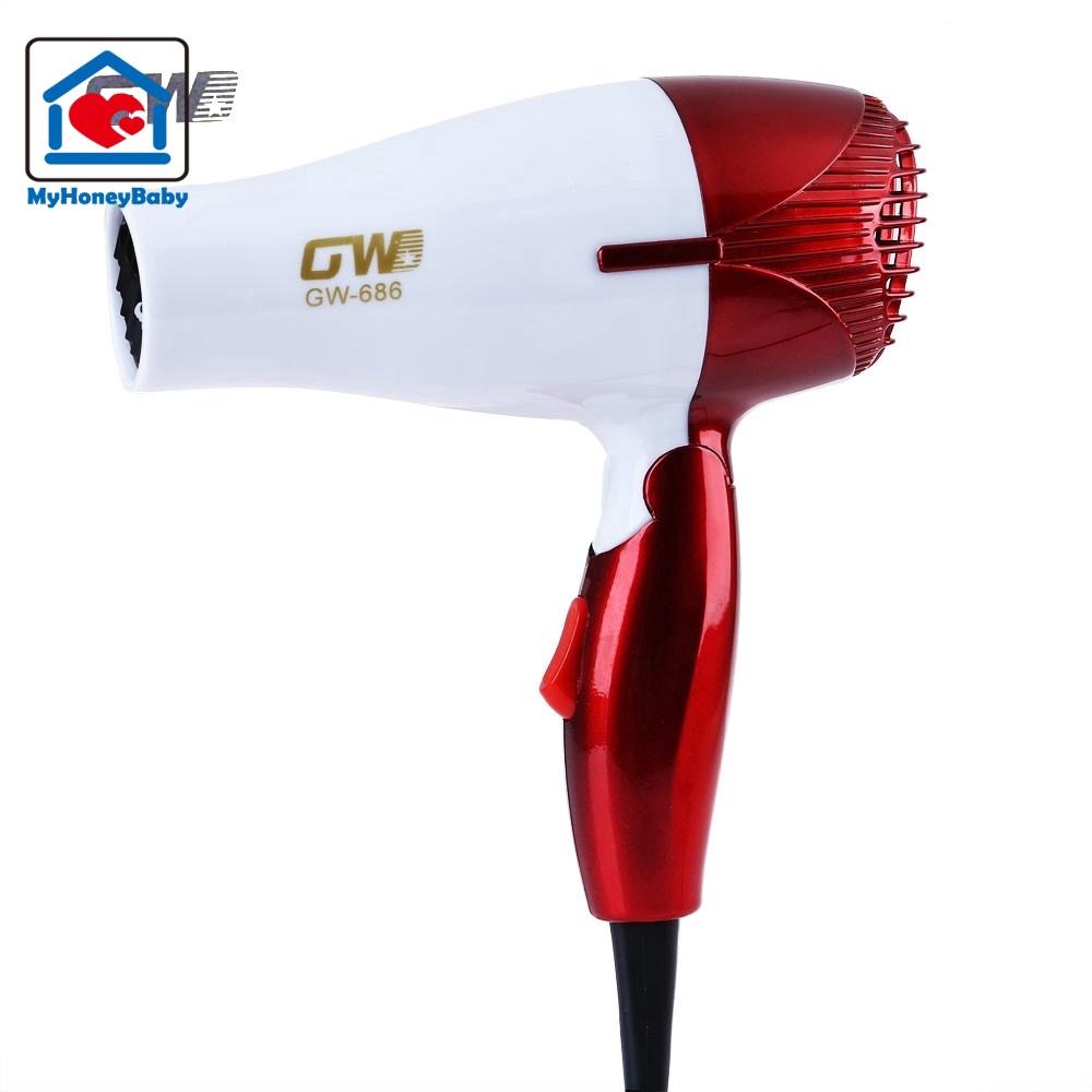 Hair Dryer Mini Portabel Suara Kecil 1000w Pegangan Bisa Dilipat Hairdryer Fleco Pengering Rambut Shopee Indonesia
