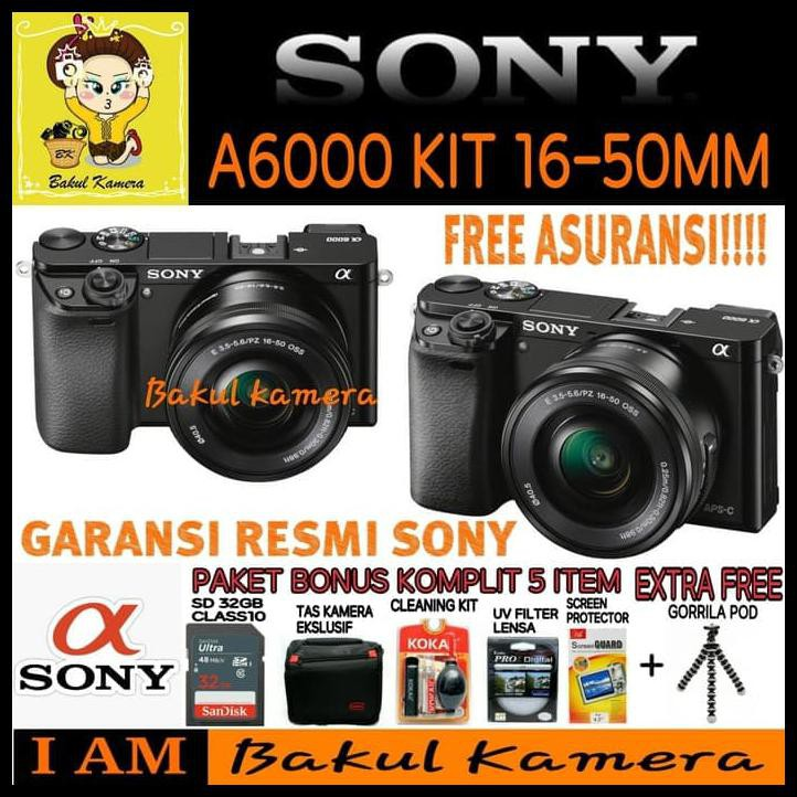 Sony Alpha A5100 kit 16-50mm F/3.5-5.6 OSS Free SDHC 8GB GARANSI RESMI | Shopee Indonesia