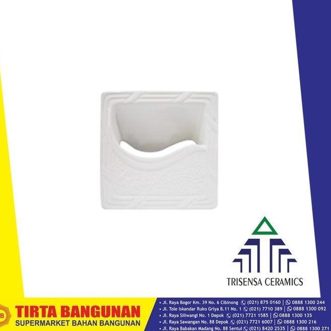 ー➫ ROSTER KERAMIK TRISENSA 20X20 RO68 COLONIAL WHITE (Sale)