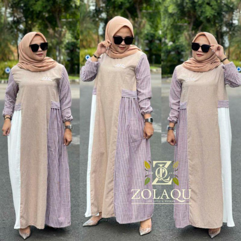 Dress Zolaqu Stiripy Ori Shopee Indonesia