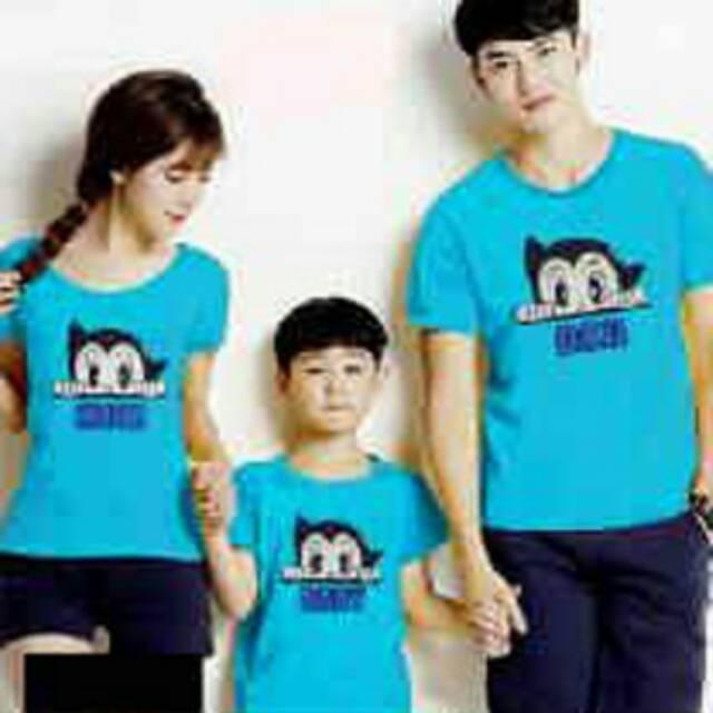 Baju Couple Family 9864 / Kaos Pasangan Keluarga / Ayah ibu anak tosca   Shopee Indonesia