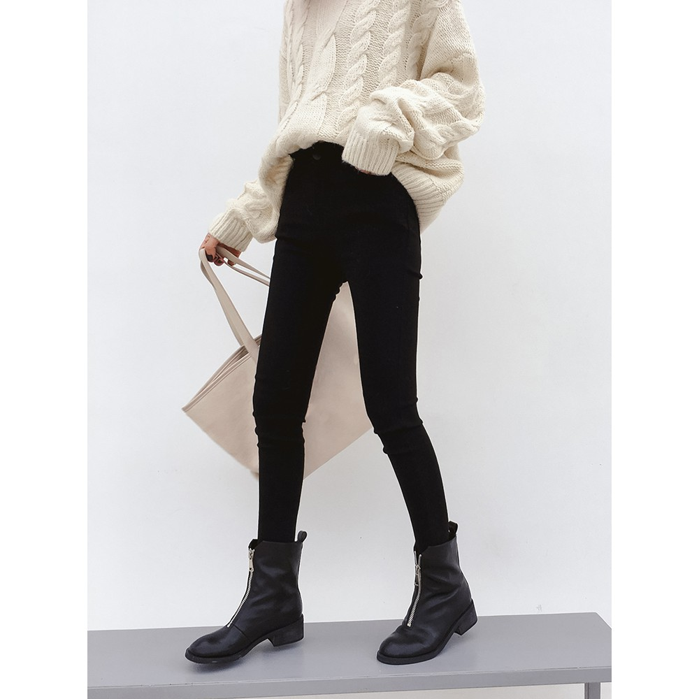 2018 net merah dengan celana chic angin putih jins perempuan musim gugur versi K | Shopee Indonesia