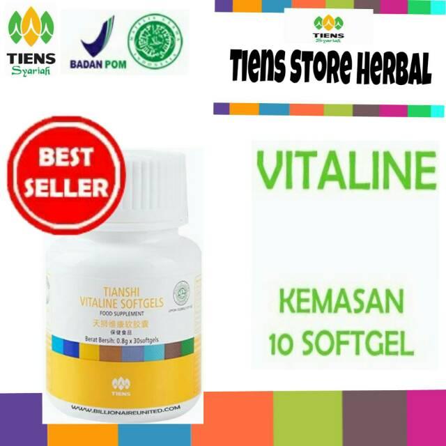 Pemutih wajah vitaline softgel herbal tiens 10 kapsul. Source · VITALINE SOFTGEL TIENS (PEMUTIH .