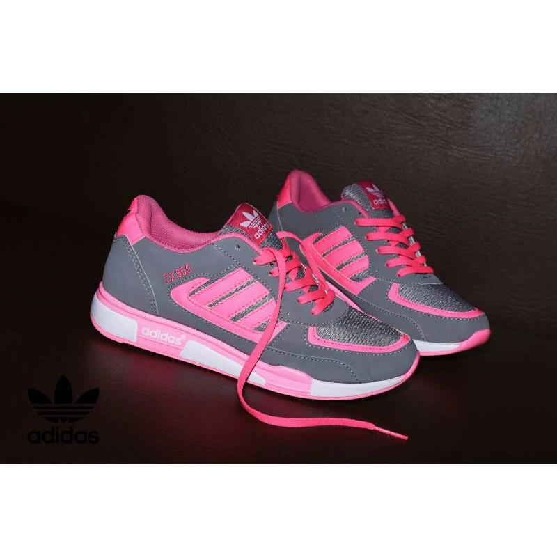 042a482766d11 Sepatu Sport Adidas ZX 850 Grade Ori Abu Pink   sneakers casual cewek