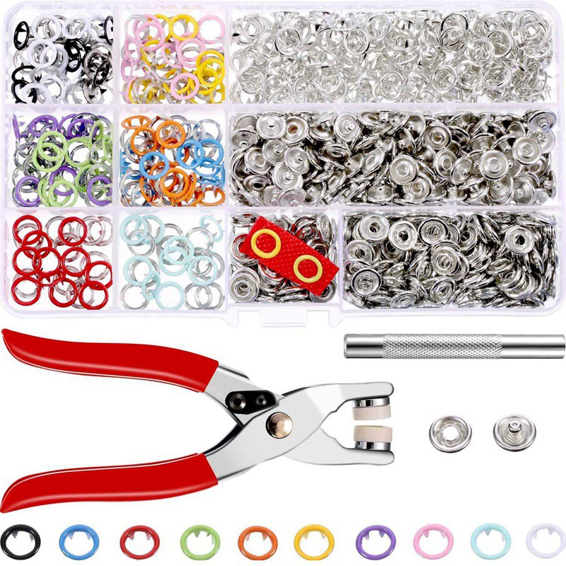 Press Pliers Metal Prong Snap Buttons Set Sewing Tools DIY Clothing Accessories
