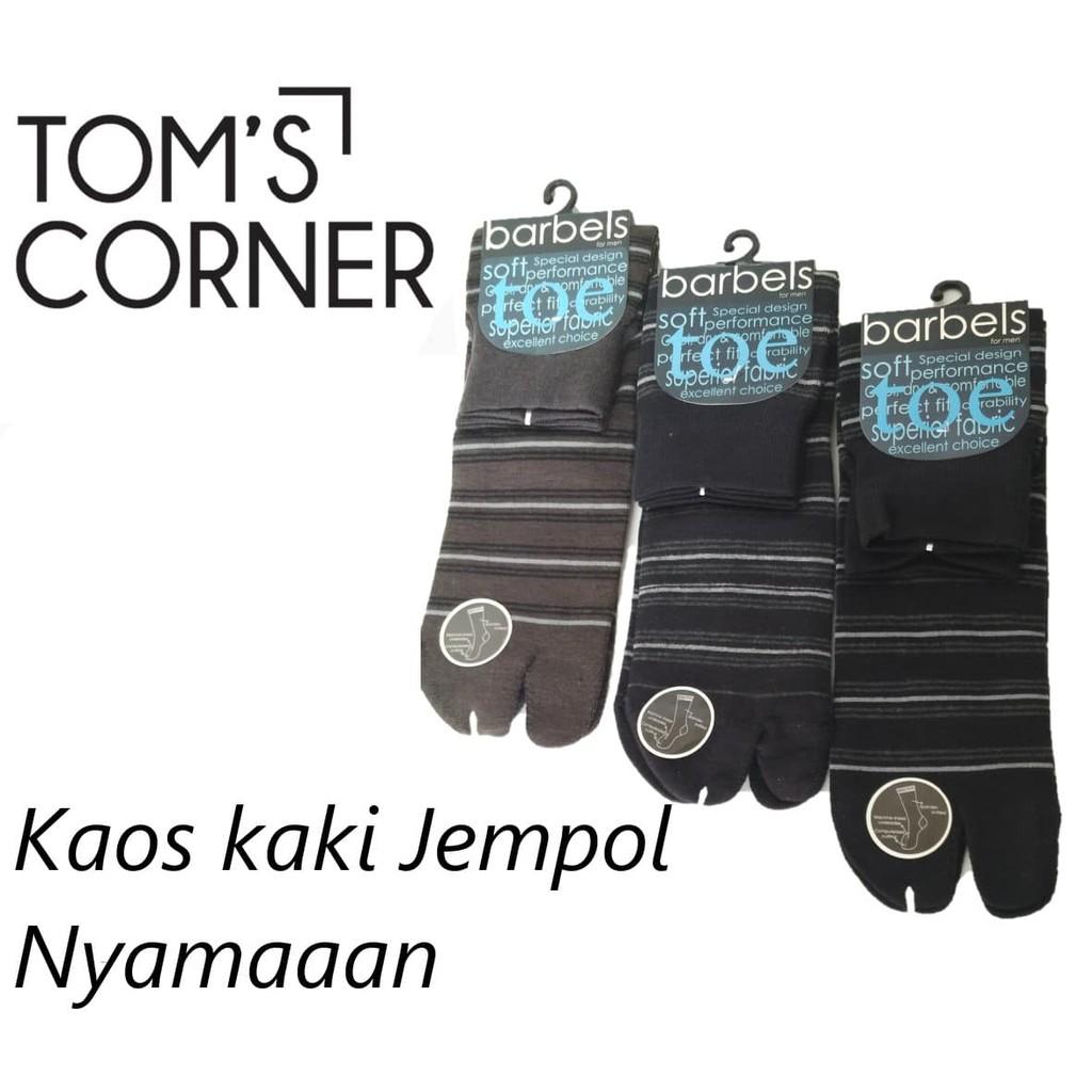 Grosir Kaos Kaki Soka Essential Vintage Shopee Indonesia Jempol Tapak Hitam Lusinan Warna Warni