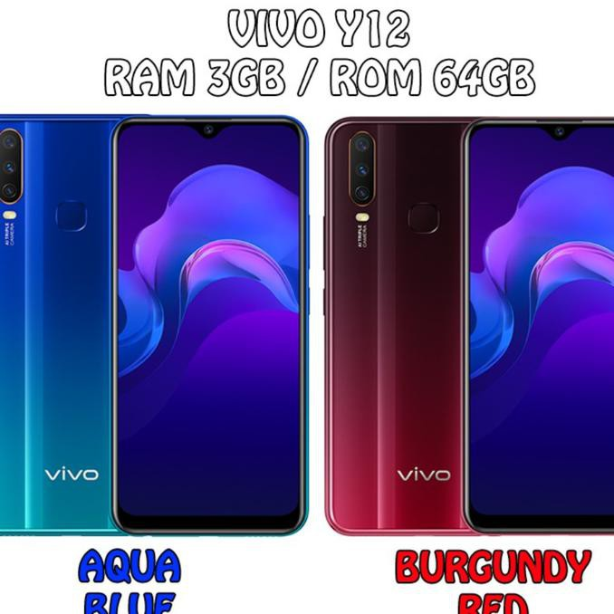 Vivo Y12 - 3GB 64GB (3/64) - Blue / Red - Biru