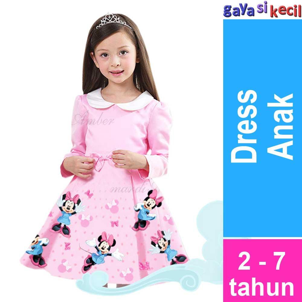 Dress Anak Perempuan ZAHRA Pink Korea  c1da025b80