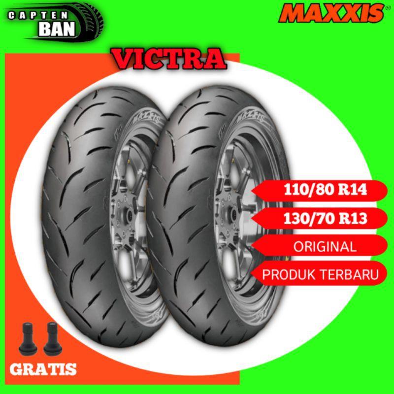 Sepasang Ban Motor HONDA ADV // MAXXIS VICTRA 110/80 Ring 14 - 130/70 Ring 13 Tubeless