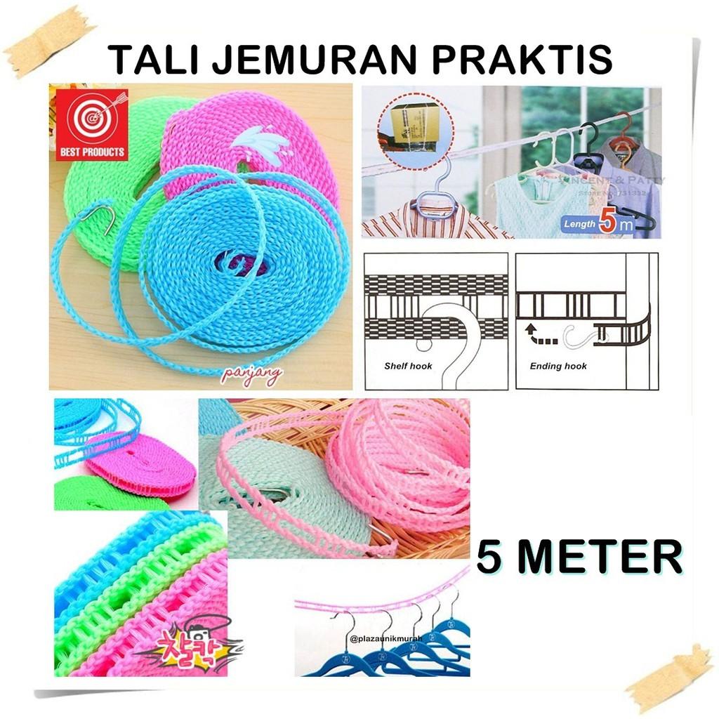Tali Jemuran 5 Meter | Tali Gantungan Hanger | Tali Jemuran Baju | Shopee Indonesia