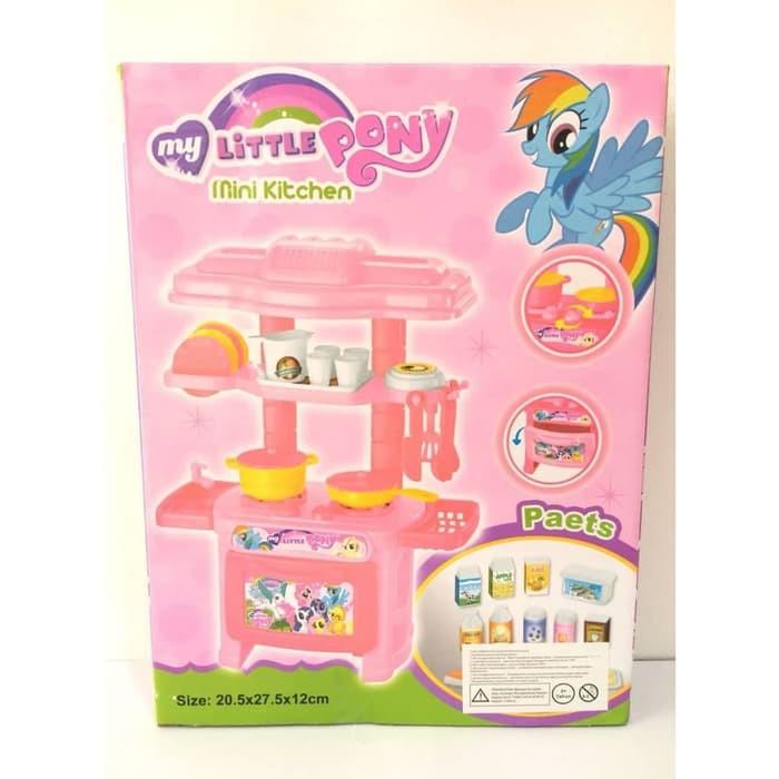 Mainan Kitchen Set Masak Masakan Little Pony Hello Kitty Frozen Besar Shopee Indonesia