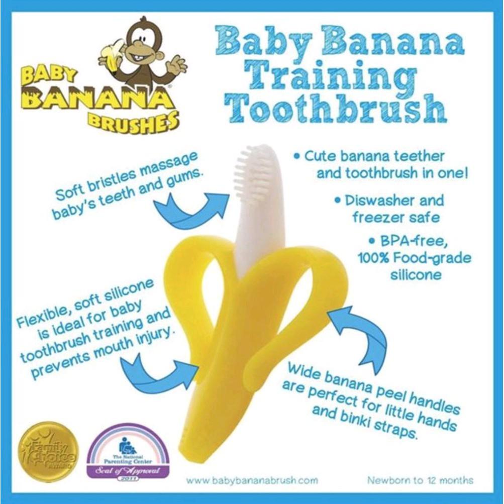 Sikat Gigi Bayi Pisang Baby Banana Teether Toothbrush Gigitan Atau Silikon Bpa Free Shopee Indonesia