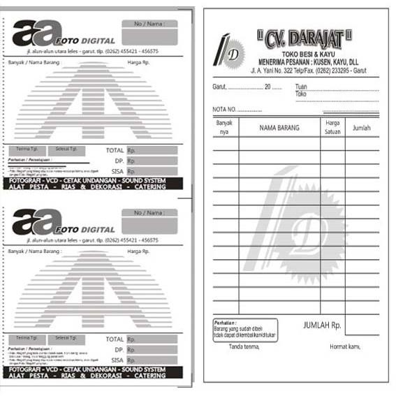 Dvd Template Desain Nota Siap Edit Format Coreldraw Shopee
