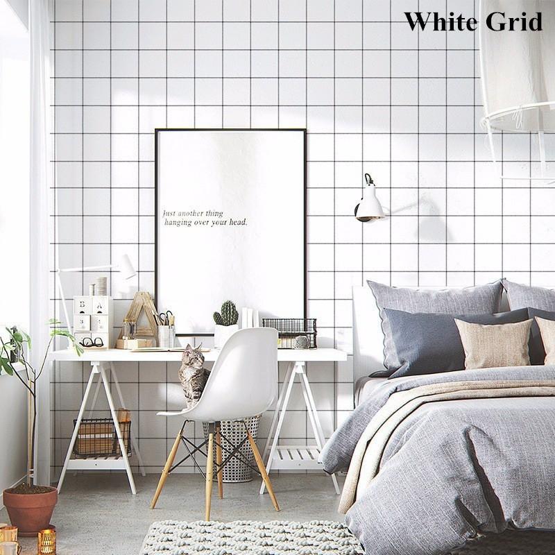 Stiker Dinding dengan Bahan Tahan Air dan Warna Polos untuk Kamar Tidur | Shopee Indonesia