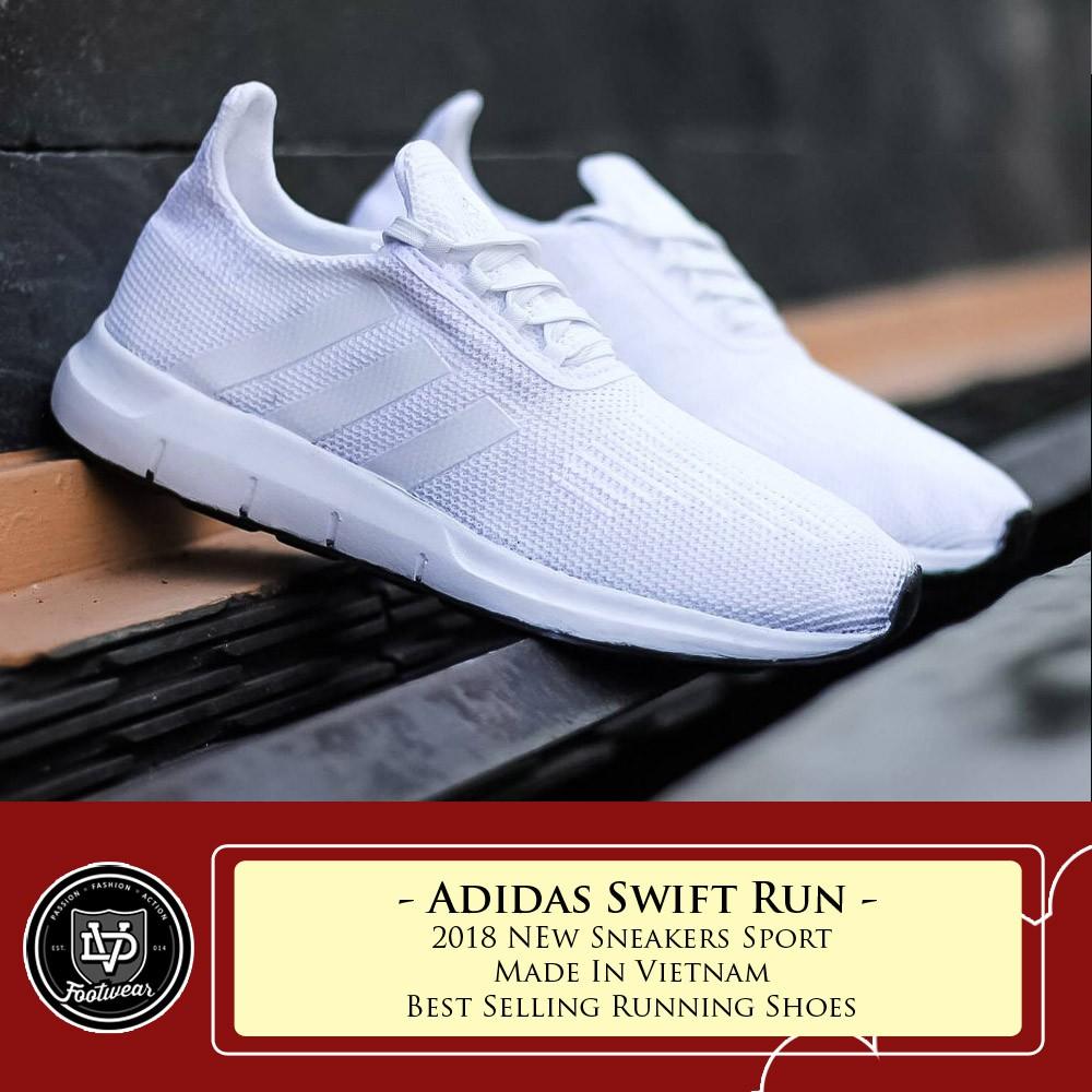 SEPATU ADIDAS SWIFT RUNNER PRIA OLAHRAGA RUNNING SNEAKERS SPORT ... 88bf5c5eff