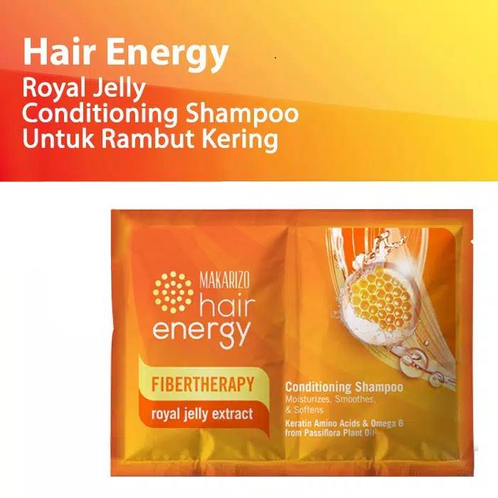 Makarizo Hair Energy Conditioning Shampoo Fibertherapy 10ml Sachet Original BPOM-4