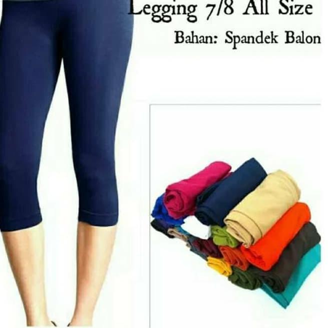 Paling Murah Bs Cod Celana Legging 7 8 Std Spandek Harga Grosir Celana Legging Pendek Celana L Shopee Indonesia