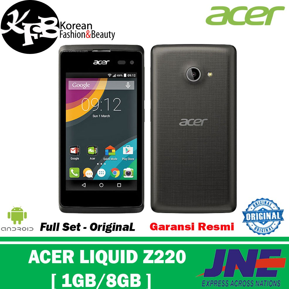 Hp Android Acer Liquid Z220 Rom 8gb Ram 1gb Garansi Original Shopee Indonesia