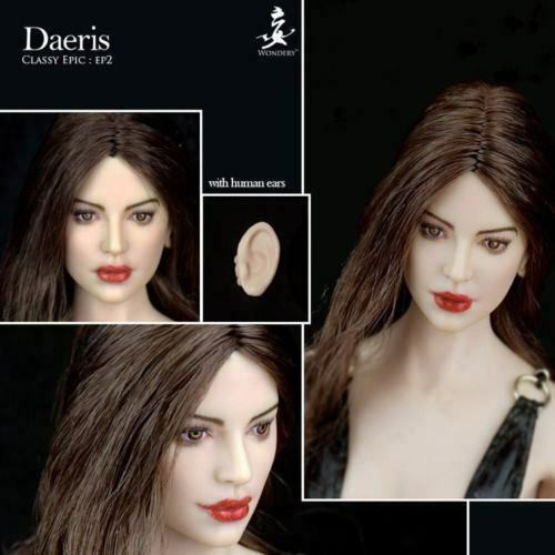 1:6 Female Head Sculpt With Detachable Elf Ears Model Fit for 12/'/' Phicen Body
