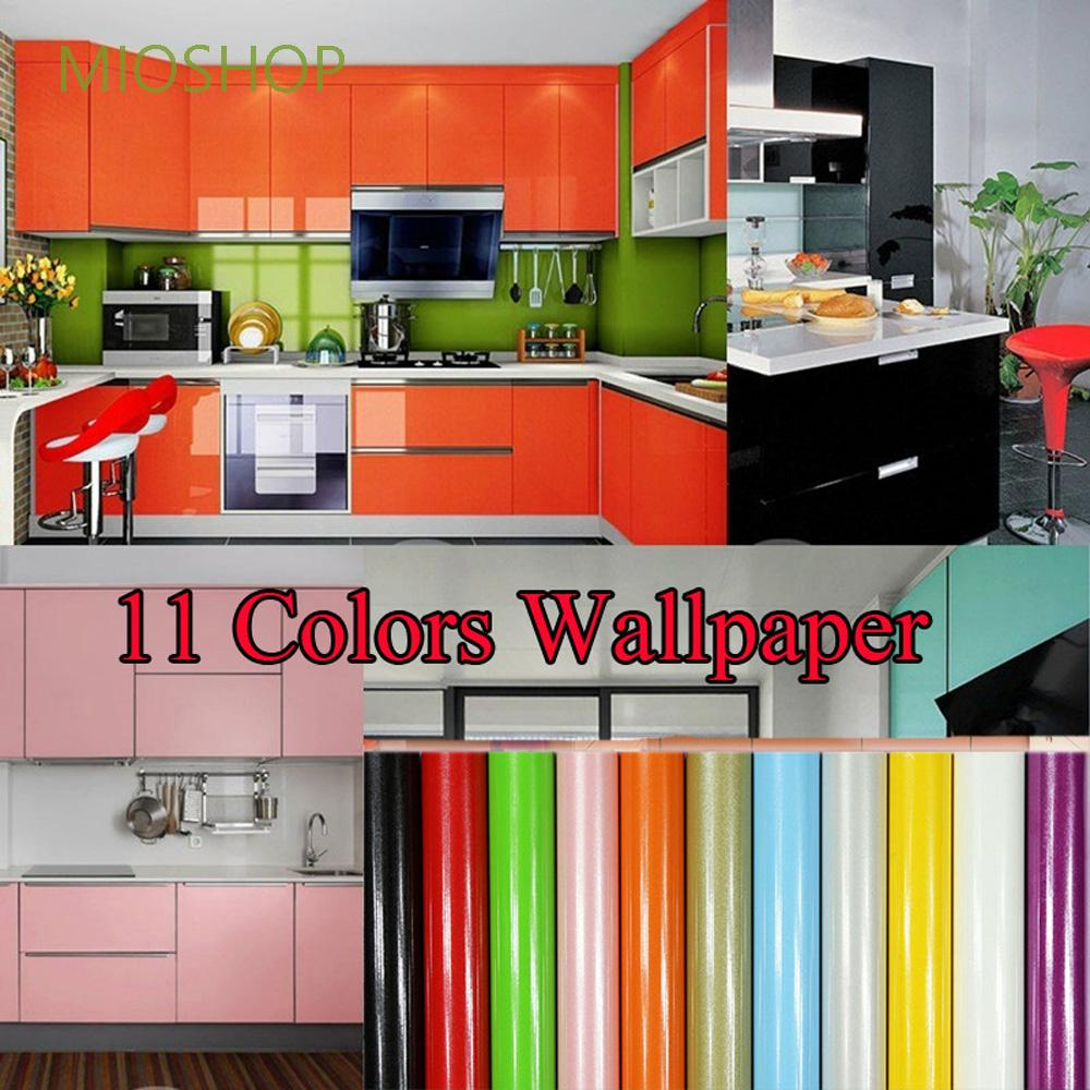 Mioshop Premium Vinyl Stickers Pearlized Kitchen Cabinet Wallpaper Shopee Indonesia