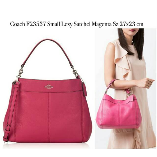 Coach F23537 Small Lexy Satchel Magenta  1ed79b008ddef