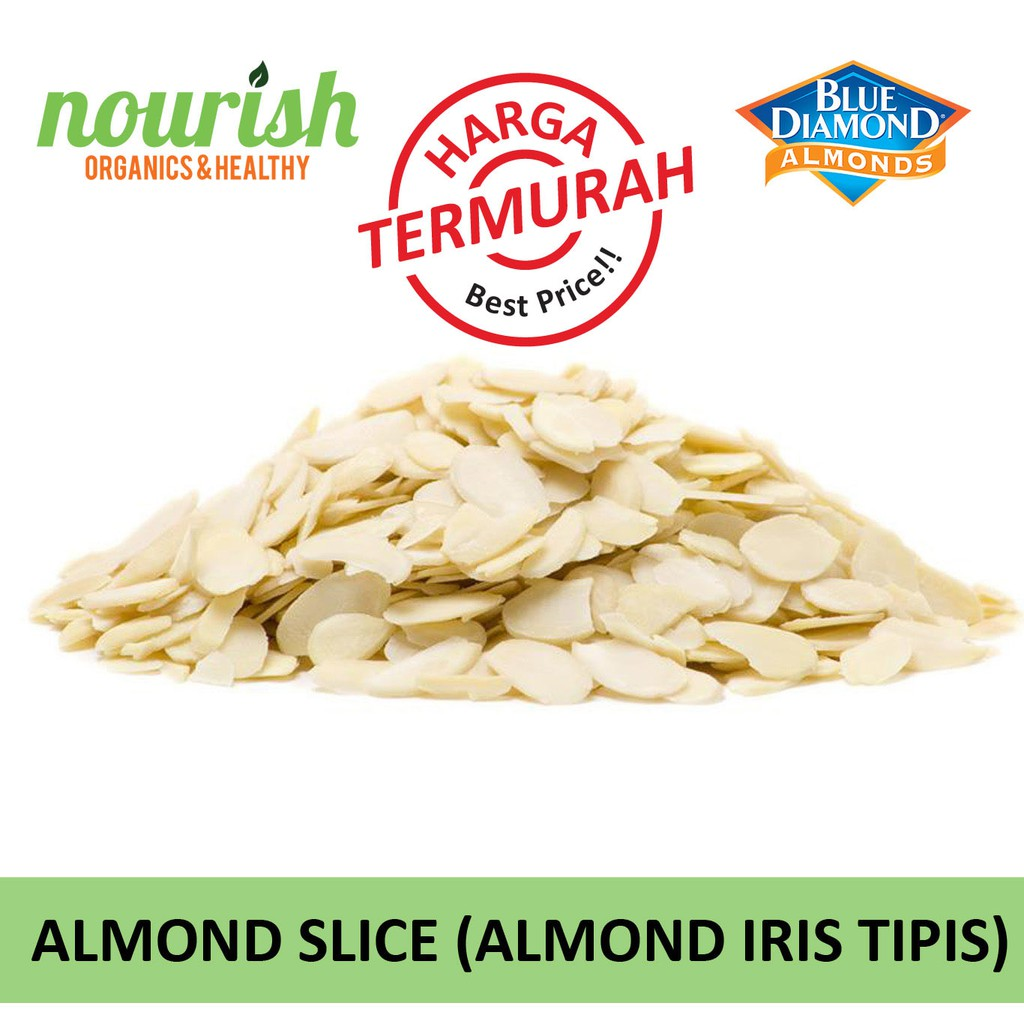 Kacang Almond Slice Potong Merk Blue Diamond 250 Gram 1000 250gr Mentah Irisan Shopee Indonesia
