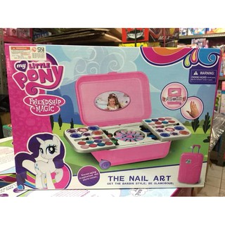 Mainan Alat Make Up anak Hello Kitty / frozen / little phonyThe Nail Art ( Koper)