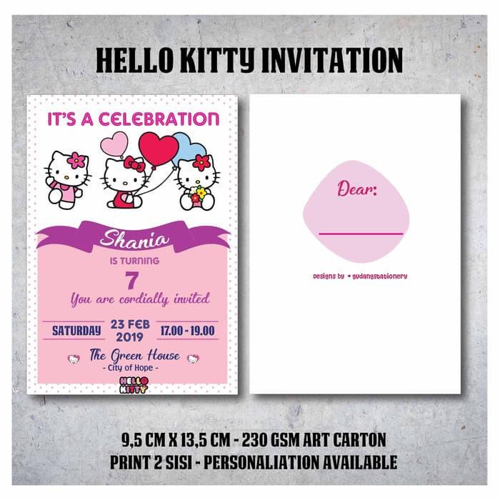 Kartu Undangan Ulang Tahun Hello Kitty
