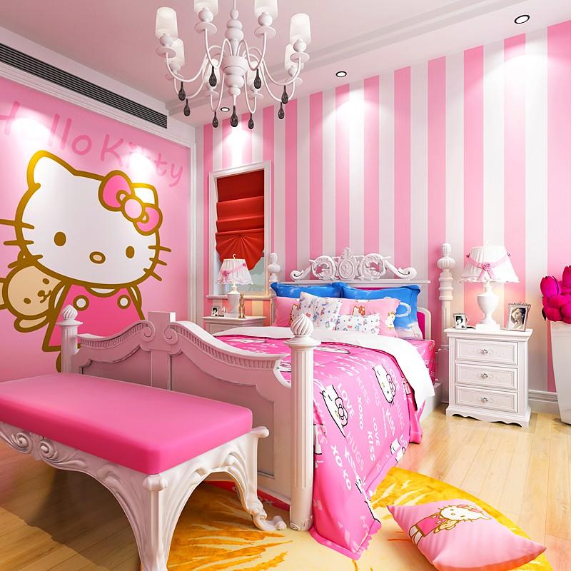 Stiker Dinding Dengan Bahan Mudah Dilepas Gambar Hello Kitty Warna Pink Untuk Dekorasi Kamar Anak Shopee Indonesia