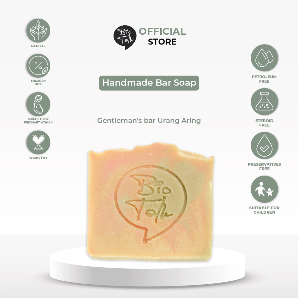 BioTalk Sabun Shampoo Natural Herbal | Gentleman's Bar Shampoo Soap | Kulit Normal |120 gram-5