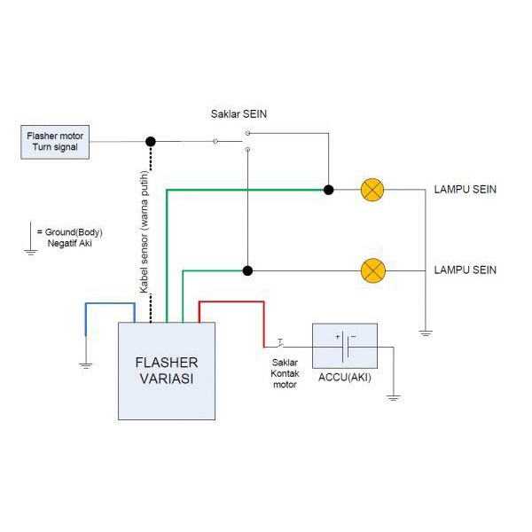 Modul Lampu Sein Variasi Flasher Hazard 7 Mode Autosensor