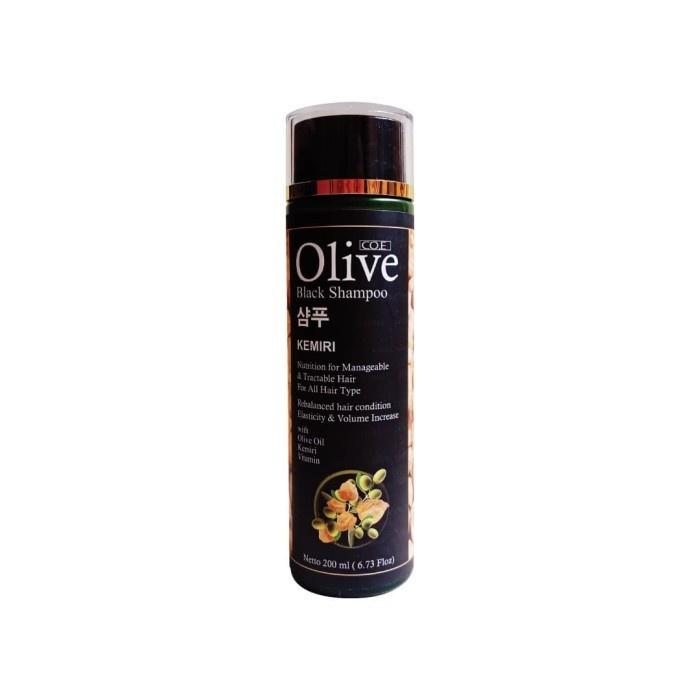 SYB CO.E Olive Hair Treatment - Shampoo Conditioner Tonic Black Kemiri Oil Mask Serum Kids-Black Shampoo Kemiri