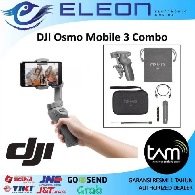Dji Osmo Mobile 3 Combo Gimbal Stabilizer Garansi Resmi Harga Diskon Shopee Indonesia