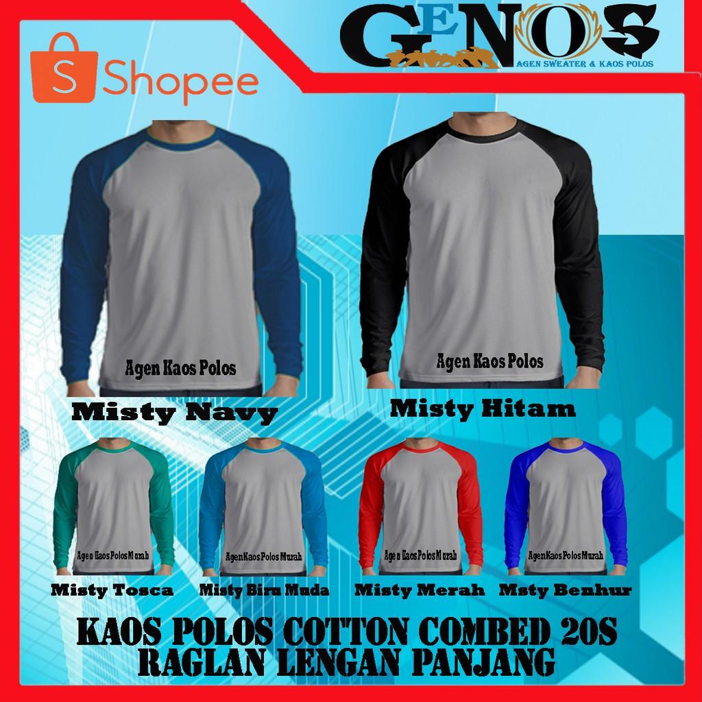 Grosir Kaos Polos Pria Lengan Cotton Combed Shopee Indonesia